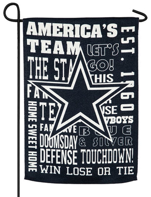 Dallas Cowboys 2 Sided Suede Reflections Garden Flag