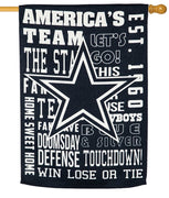 Dallas Cowboys 2 Sided Suede Reflections House Flag