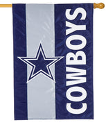 Dallas Cowboys Embellished Applique House Flag