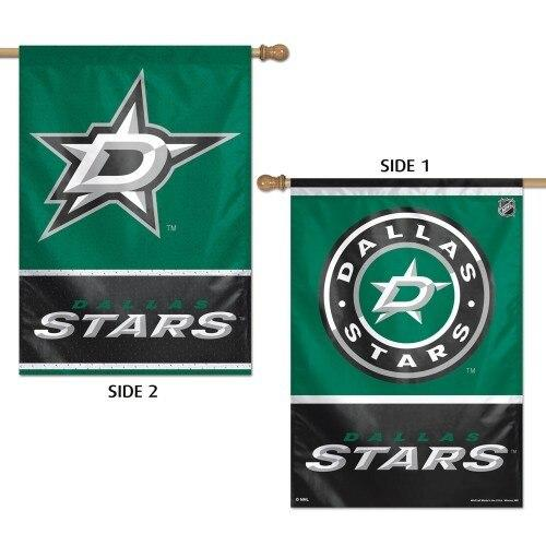 Dallas Stars 2 Sided House Flag