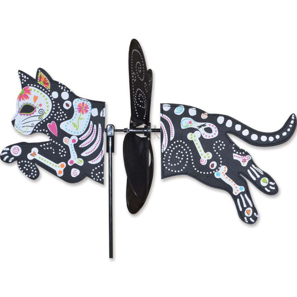 Day of the Dead Cat Petite Wind Spinner