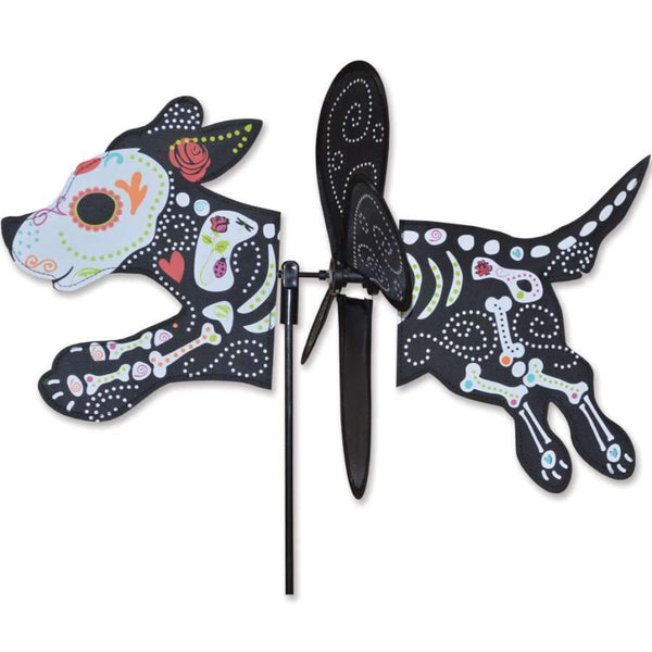 Day of the Dead Dog Petite Wind Spinner