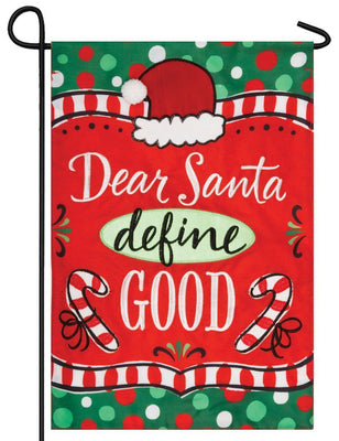 Dear Santa Double Applique Garden Flag