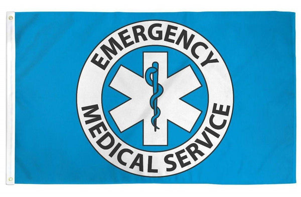 EMS Emergency Medical Service Flag 3x5