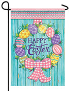Easter Egg Wreath Garden Flag