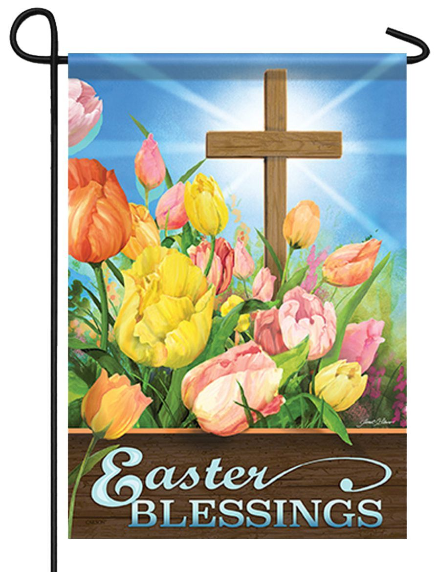 Easter Morning Blessings Garden Flag