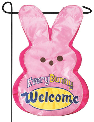 Every Bunny Welcome Double Applique Garden Flag