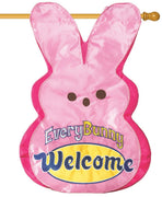 Every Bunny Welcome Double Applique House Flag