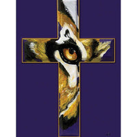 LSU Eye of the Tiger Cross House Flag - I AmEricas Flags