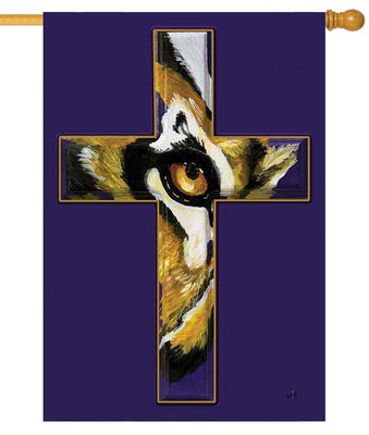 Eye of the Tiger Cross House Flag