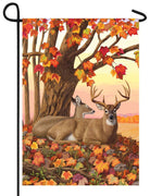 Fall Deer Garden Flag