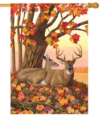 Fall Deer House Flag
