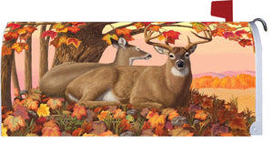 Fall Deer Mailbox Cover