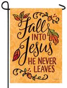 Fall Into Jesus Garden Flag