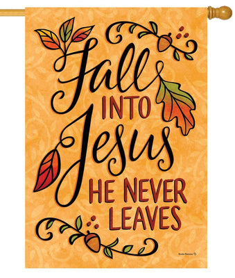 Fall Into Jesus House Flag