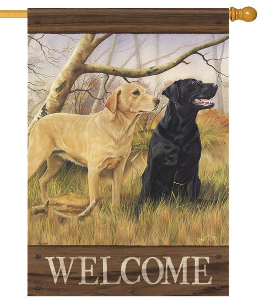 Fall Labradors House Flag