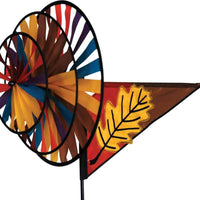 Fall Leaf Triple Wind Spinner