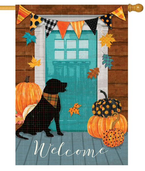 Fall Porch House Flag
