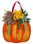Fall Succulents Decorative Door Hanger
