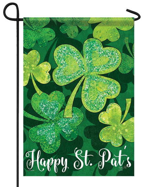 Falling Shamrocks Glitter Garden Flag - All Decorative Flags/Holidays/St. Patrick's Day Flags - I AmEricas Flags