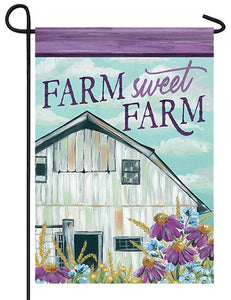Farm Sweet Farm Garden Flag