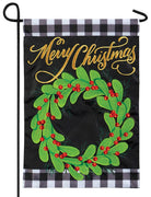 Christmas Farmhouse Double Applique Garden Flag
