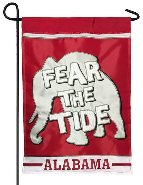 Fear The Tide Double Applique Garden Flag