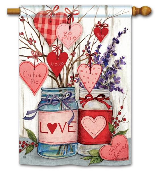 Filled With Love House Flag - All Decorative Flags/Holidays/Valentine's Day Flags - I AmEricas Flags