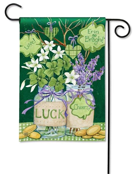 Filled With Luck Garden Flag