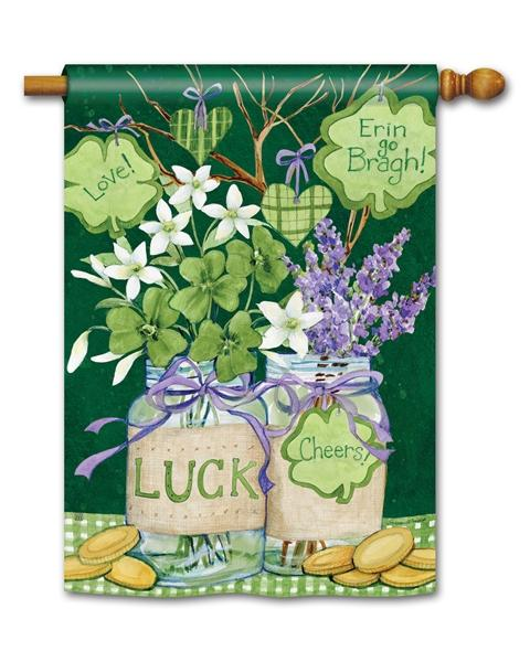 Filled With Luck House Flag - All Decorative Flags/Holidays/St. Patrick's Day Flags - I AmEricas Flags