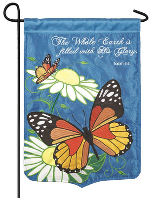 Filled with His Glory Double Applique Garden Flag