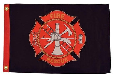 Firefighter Maltese Cross Boat Flag