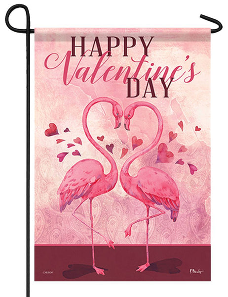 Flamingo Love Garden Flag - All Decorative Flags/Holidays/Valentine's Day Flags - I AmEricas Flags