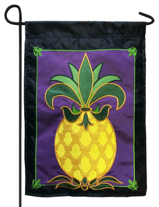 Fleur de Lis Pineapple Double Applique Garden Flag - All Decorative Flags/Themes/Pineapple Flags - I AmEricas Flags