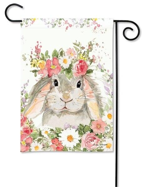 Floral Bunny Garden Flag - All Decorative Flags/Seasons/Spring Flags - I AmEricas Flags