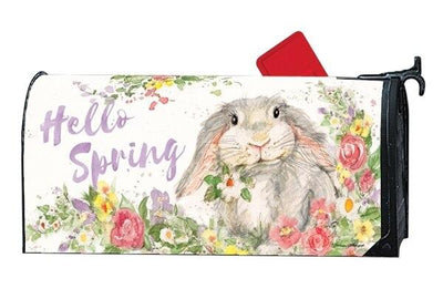 Floral Bunny Mailbox Cover