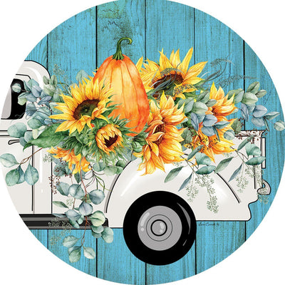 Floral Truck Accent Magnet