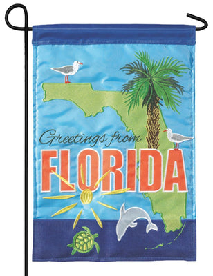 Florida State Greetings Double Applique Garden Flag