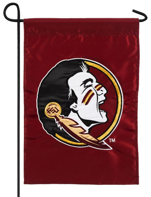Florida State Seminole Applique Garden Flag