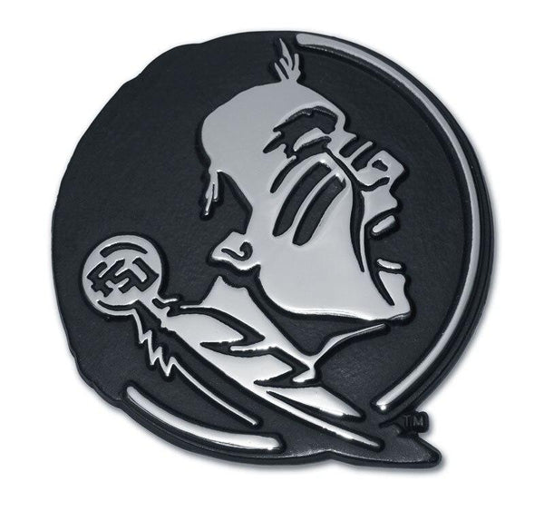 Florida State Seminole Chrome Car Emblem