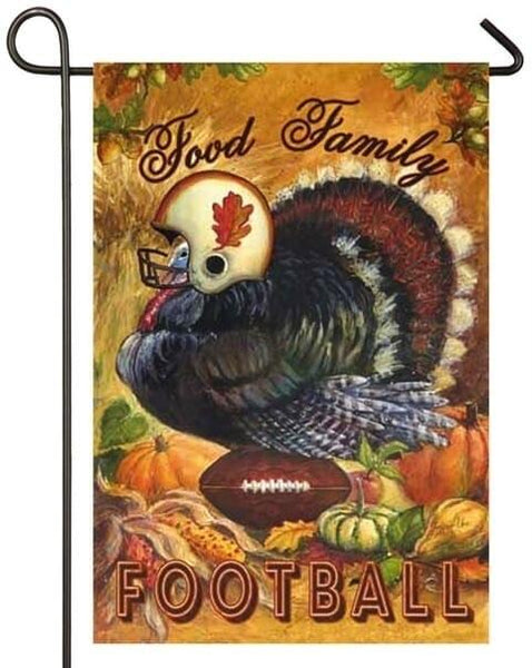 Food Family Football Turkey Suede Reflections Garden Flag