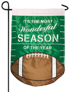 Football Most Wonderful Season Double Applique Garden Flag