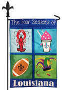 Four Seasons of Louisiana Double Applique Garden Flag