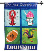 Four Seasons of Louisiana Double Applique House Flag