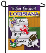 Four Seasons of Louisiana Suede Reflections Garden Flag