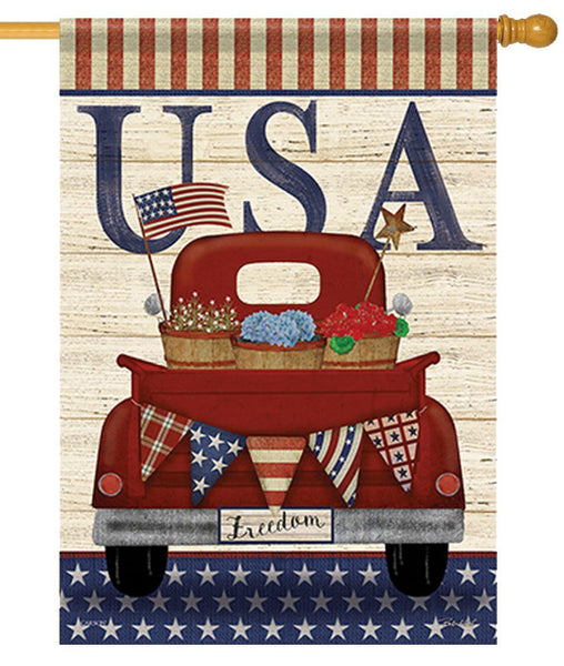 Freedom Truck House Flag - I AmEricas Flags
