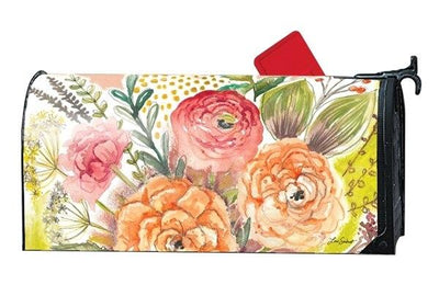 Fresh Flowers Mailbox Cover