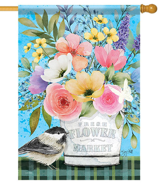 Fresh Spring Flowers House Flag