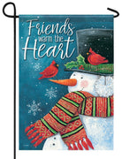 Friends Warm the Heart Garden Flag