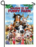 Funny Farm Welcome Garden Flag